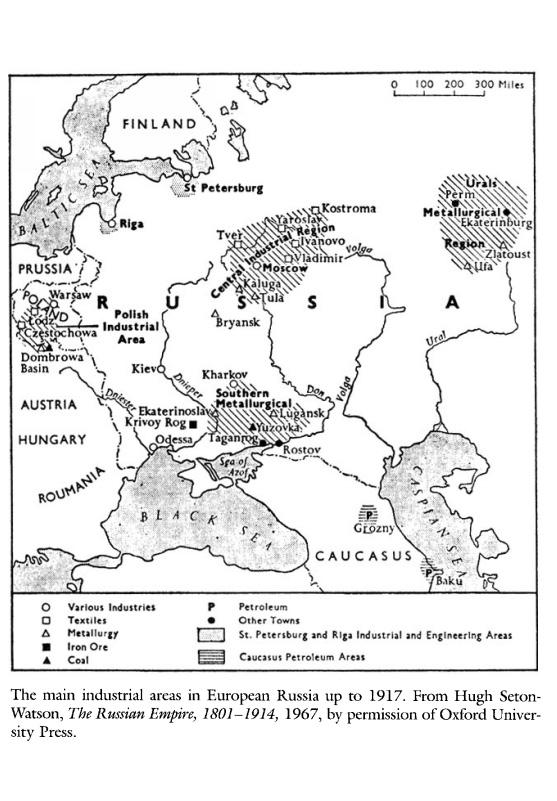 industrial regions Russia 1917
